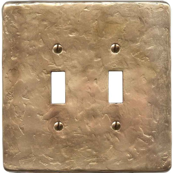 Textured Lustre Double 2 Toggle Switch Plate Covers