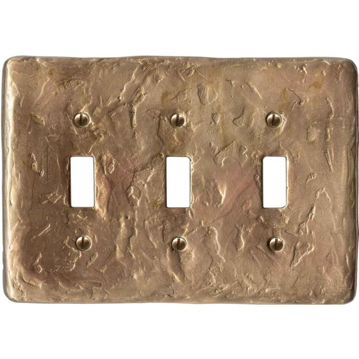 Textured Lustre Triple 3 Toggle Light Switch Covers