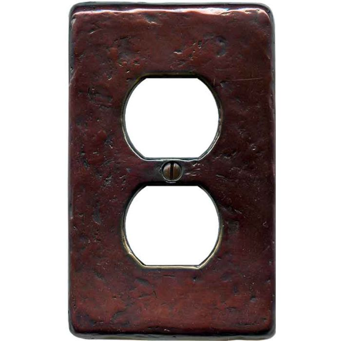 Textured Mink 1 Gang Duplex Outlet Cover Wall Plate