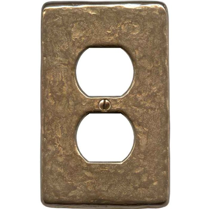 Textured Natural 1 Gang Duplex Outlet Cover Wall Plate