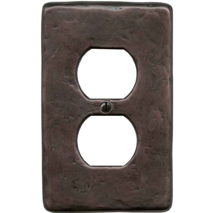 Textured Oil Rubbed 1 Gang Duplex Outlet Cover Wall Plate