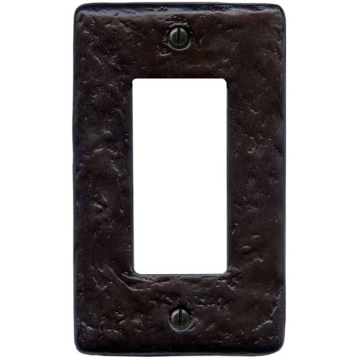 Textured Wrought Single 1 Gang GFCI Rocker Decora Switch Plate Cover