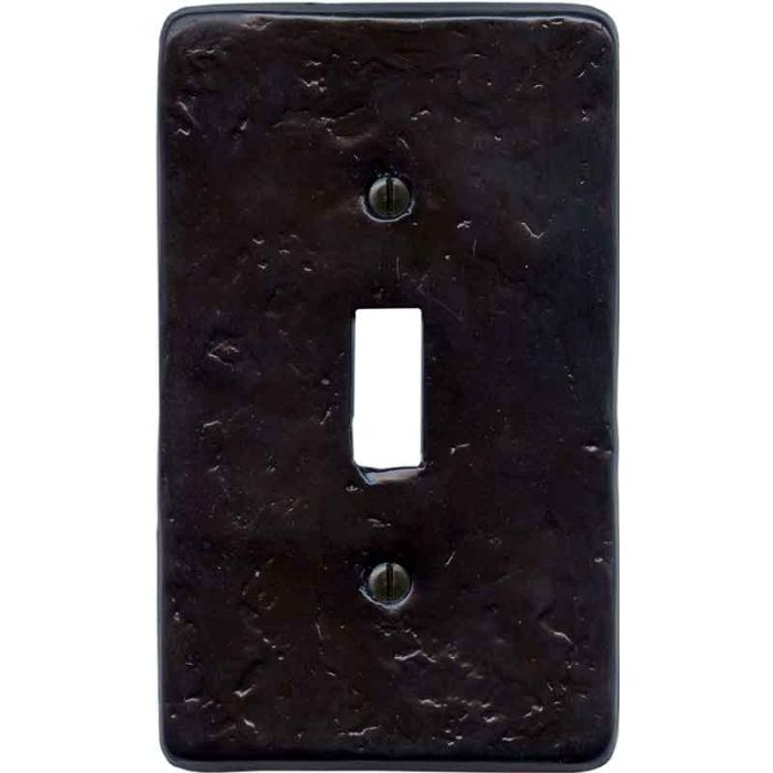 Textured Wrought Single 1 Toggle Light Switch Plates