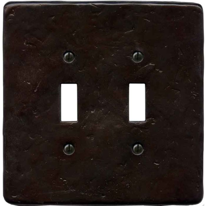 Textured Wrought Double 2 Toggle Switch Plate Covers