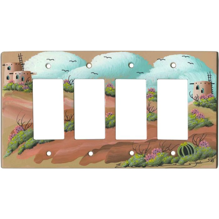 The Old Pueblo 4 Rocker GFCI Decorator Switch Plates