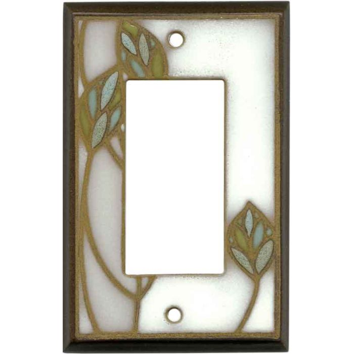 Three Leaves Ceramic1-Gang GFCI Decorator Rocker Switch Plate Cover