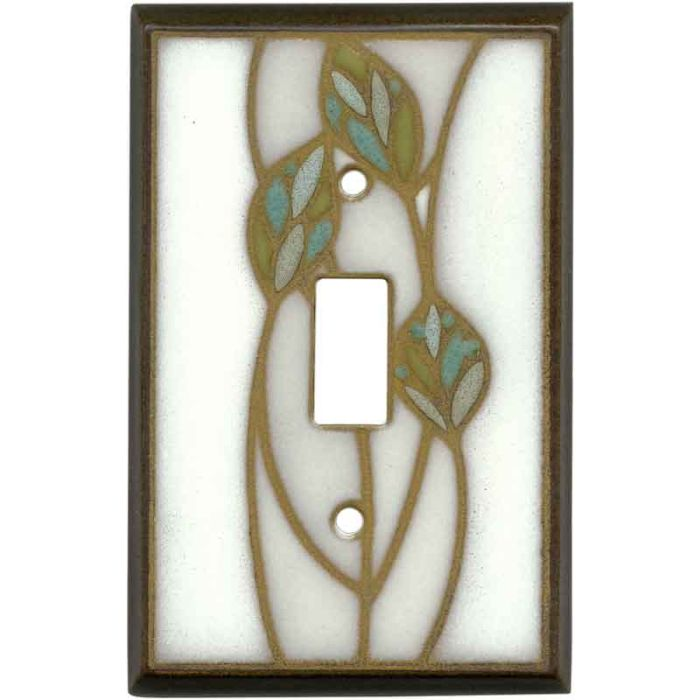 Three Leaves Ceramic1 Toggle Light Switch Cover