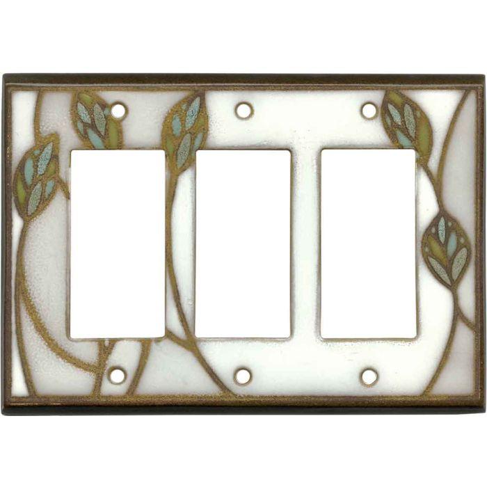 Three Leaves Ceramic3 - Rocker / GFCI Decora Switch Plate Cover