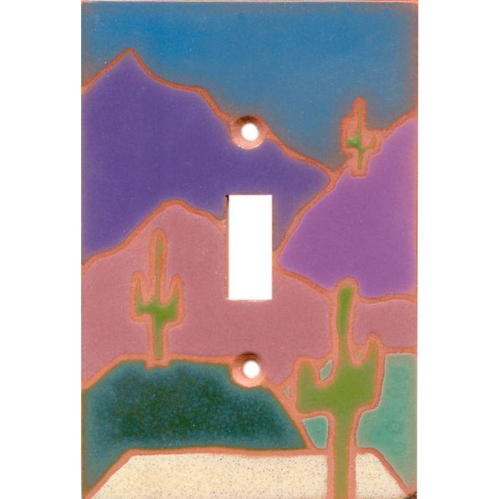 Three Saguaros1 Toggle Light Switch Cover