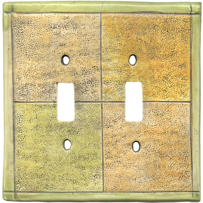 Tiles Citron Double 2 Toggle Switch Plate Covers