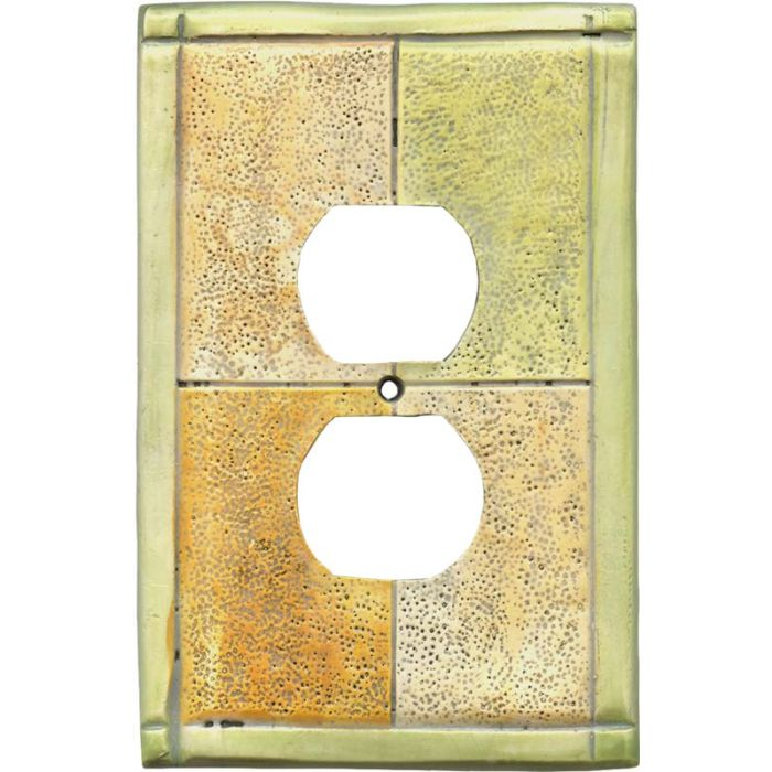 Tiles Citron 1 Gang Duplex Outlet Cover Wall Plate