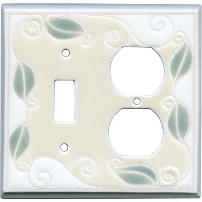 Trailing Vine Ceramic Combination 1 Toggle / Outlet Cover Plates