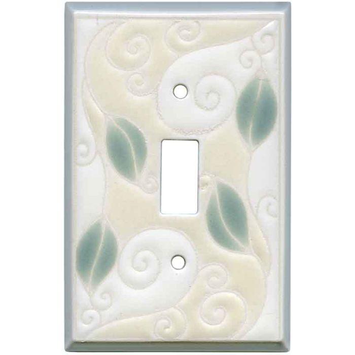 Trailing Vine Ceramic Single 1 Toggle Light Switch Plates