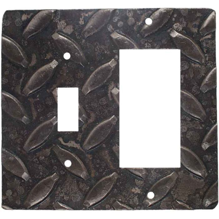 Treads Combination 1 Toggle / Rocker GFCI Switch Covers