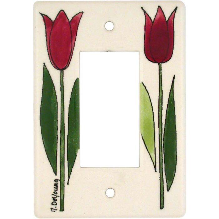 Tulip 1-Gang GFCI Decorator Rocker Switch Plate Cover