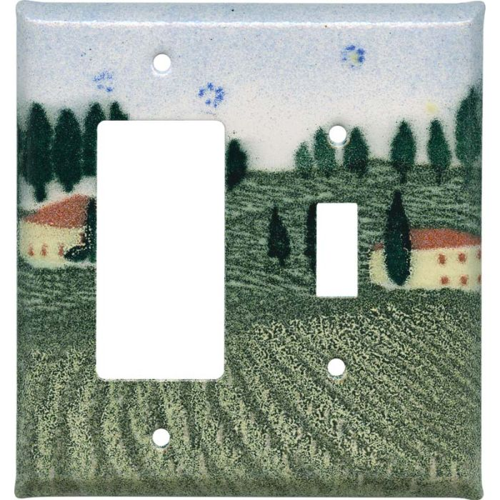 Tuscan 1-Gang GFCI Decorator Rocker Switch Plate Cover