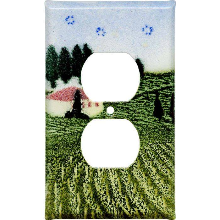 Tuscan 1 Gang Duplex Outlet Cover Wall Plate