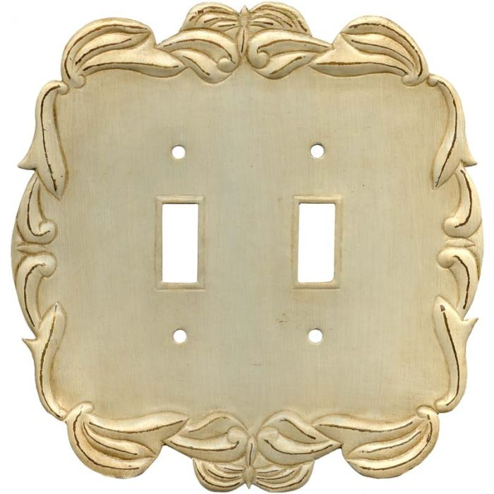Victorian Double 2 Toggle Switch Plate Covers