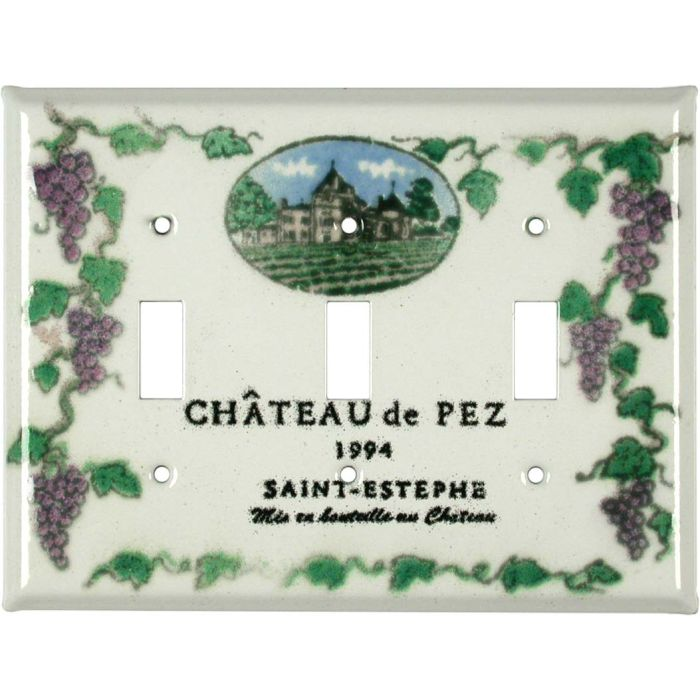Vineyard Triple 3 Toggle Light Switch Covers