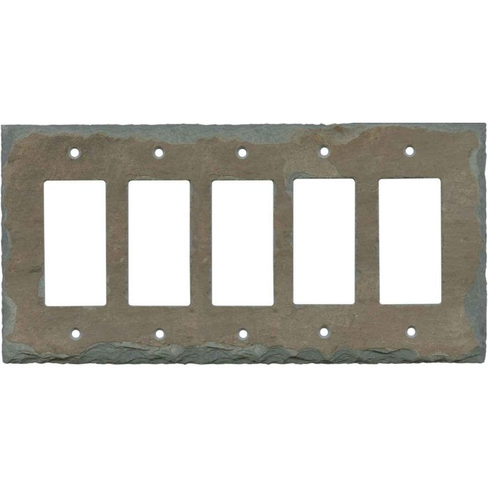 Vermont Recycled Slate5 GFI Rocker Wall Switch Plates