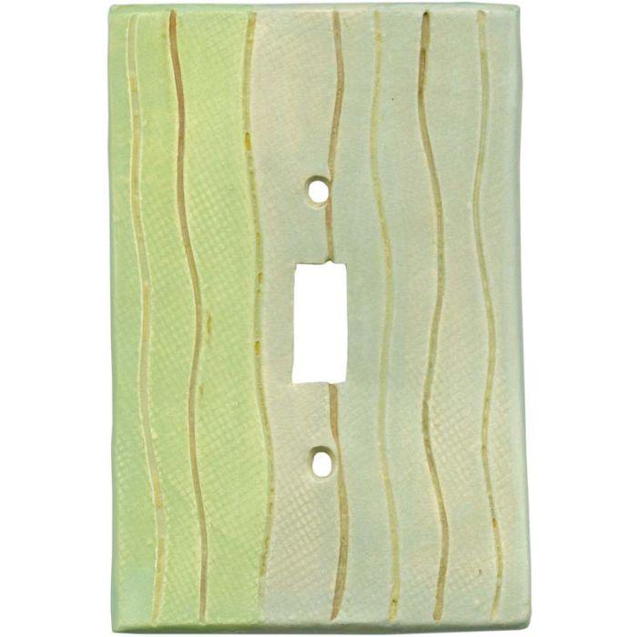 Wavy Stripe Green Blue Single 1 Toggle Light Switch Plates