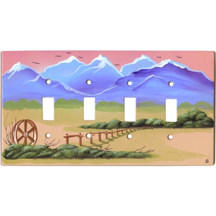 Western Plains4 - Toggle Light Switch Covers & Wall Plates