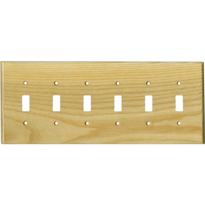 White Ash Satin Lacquer 6 Toggle Wall Plate Covers