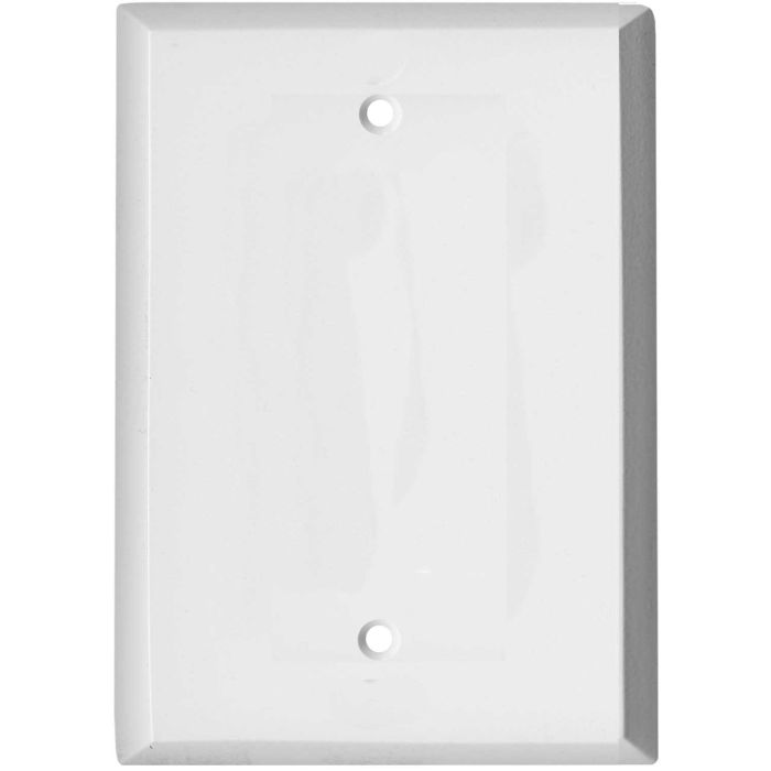 Oversized White Steel Blank Wall Plate Cover