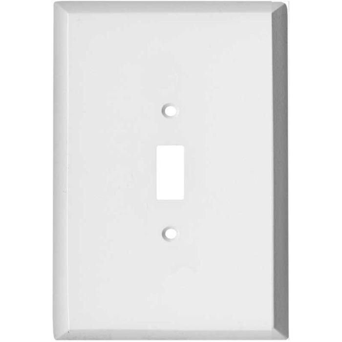 Oversized White Steel Single 1 Toggle Light Switch Plates