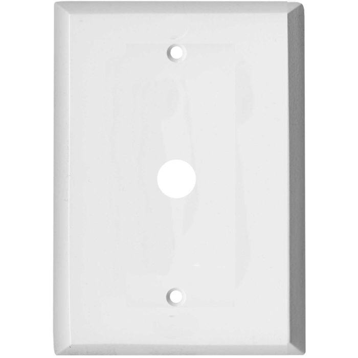 Oversized White Steel Coax Cable TV Wall Plates