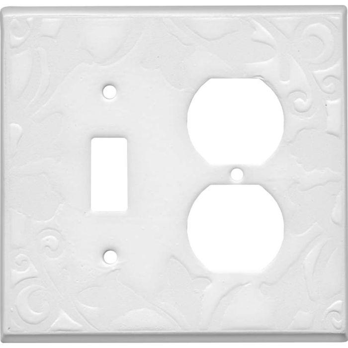 Porcelain Ceramic White Duplex Outlet Wall Plates New
