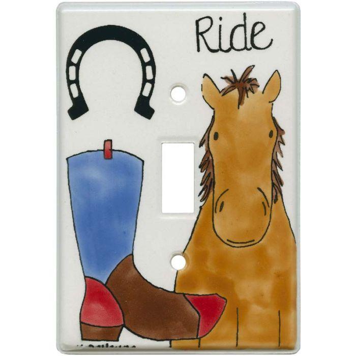 Whoa Horse Single 1 Toggle Light Switch Plates