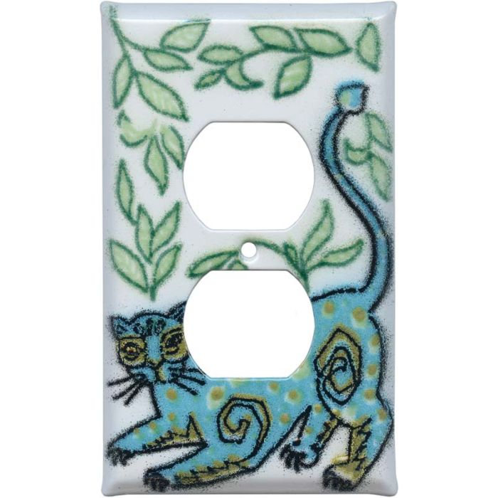 Wild Cat 1 Gang Duplex Outlet Cover Wall Plate