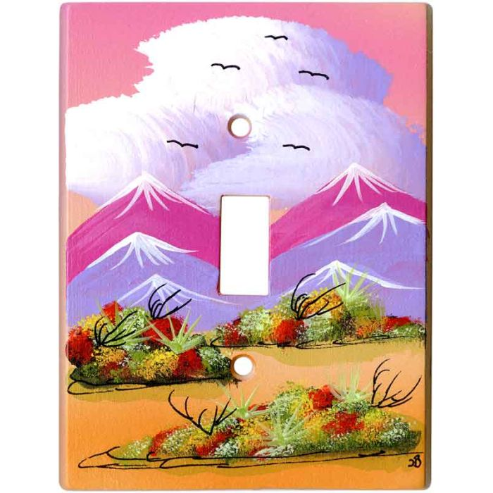 Wildflowers 1 Toggle Light Switch Cover