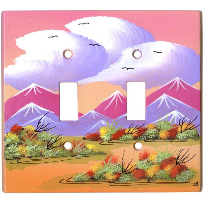 Wildflowers Double 2 Toggle Switch Plate Covers