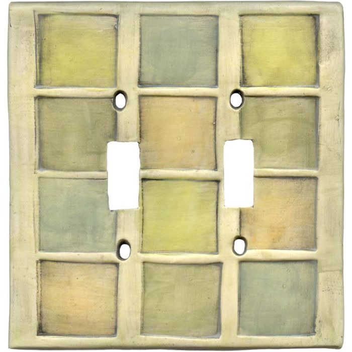 Windows Double 2 Toggle Switch Plate Covers