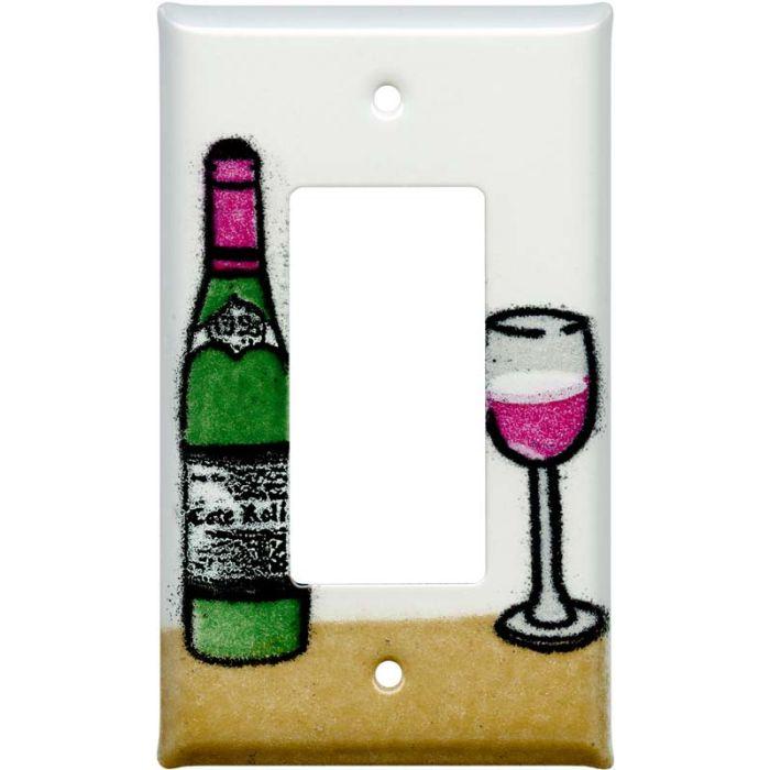 Wine 1-Gang GFCI Decorator Rocker Switch Plate Cover