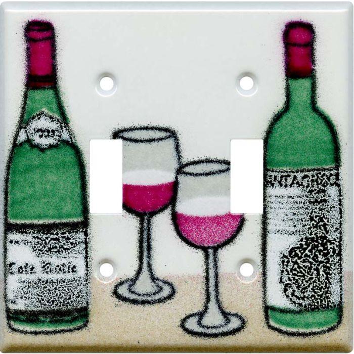 Wine 2 Toggle Switch Plates