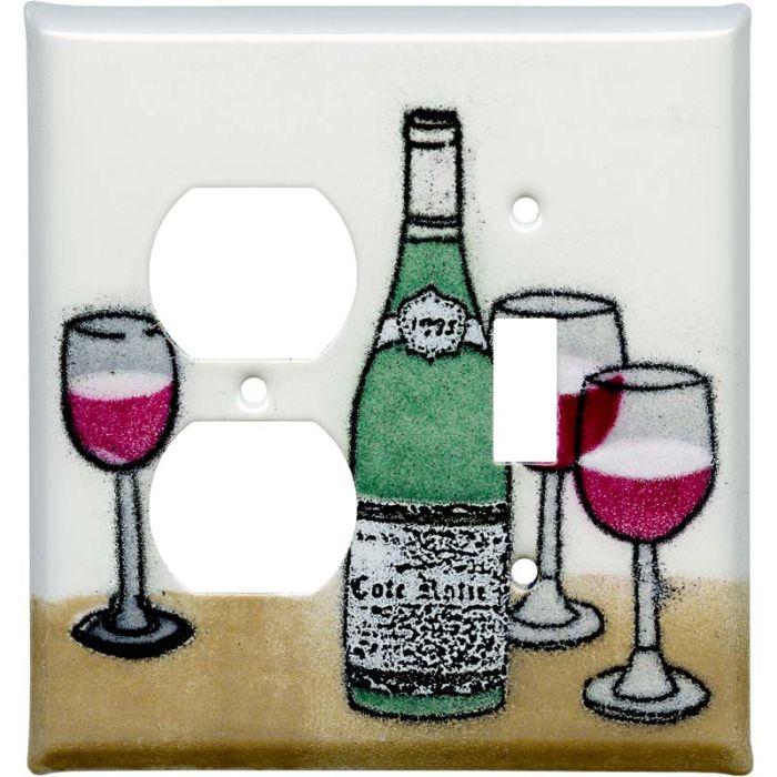 Wine 1-Duplex / 1-Toggle - Combination Wall Plates