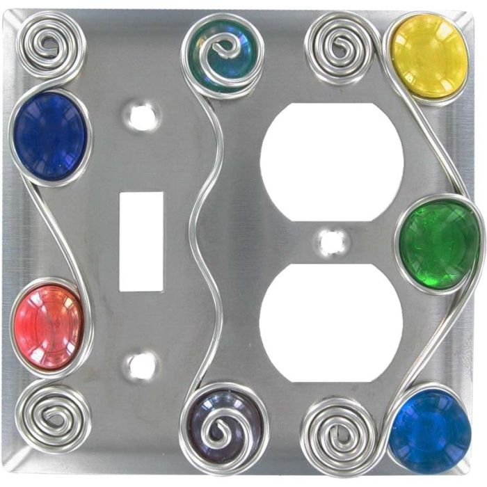 Wired Combination 1 Toggle / Outlet Cover Plates