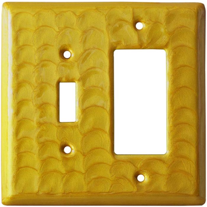 Yellow Motion - Combination 1 Toggle/Rocker Switch Covers