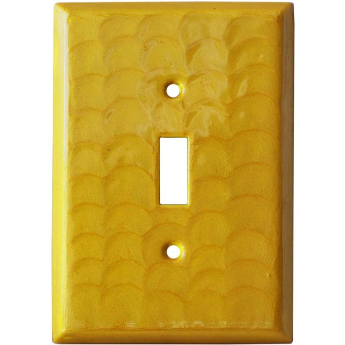 Yellow Motion - 1 Toggle Light Switch Plates
