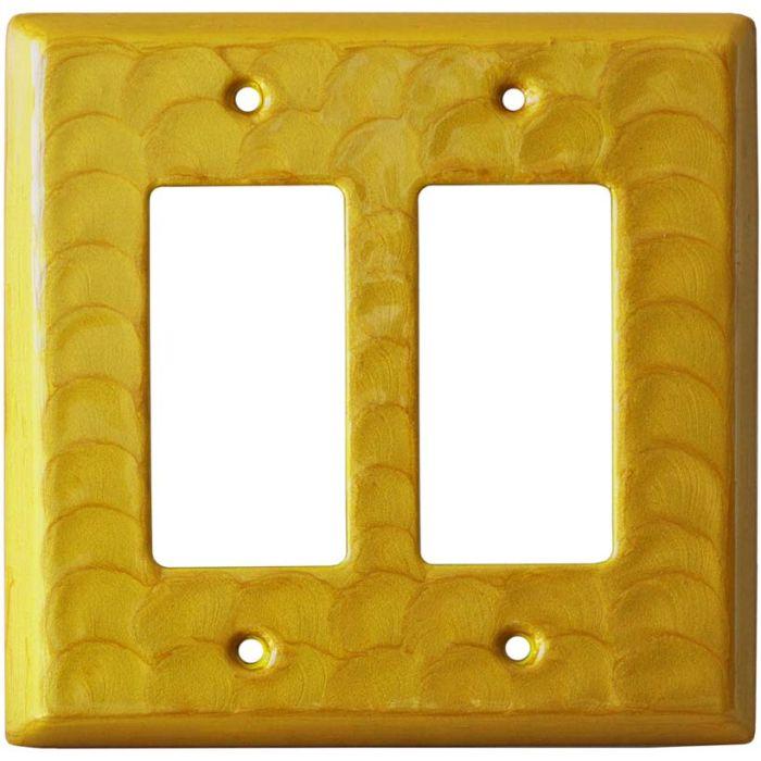 Yellow Motion 2 Gang Double GFCI Rocker Decorator Wallplates