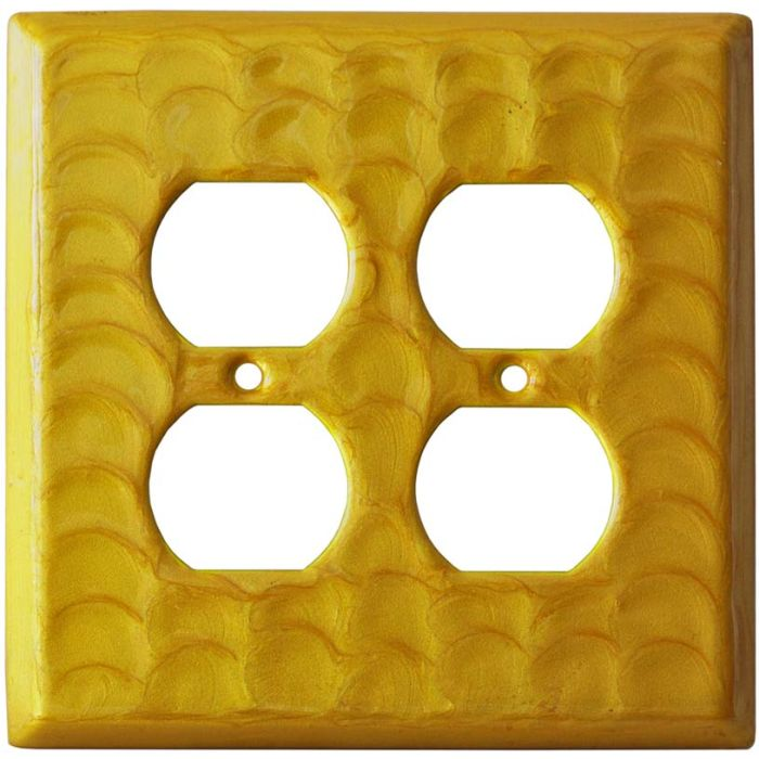 Yellow Motion - 2 Gang Electrical Outlet Covers