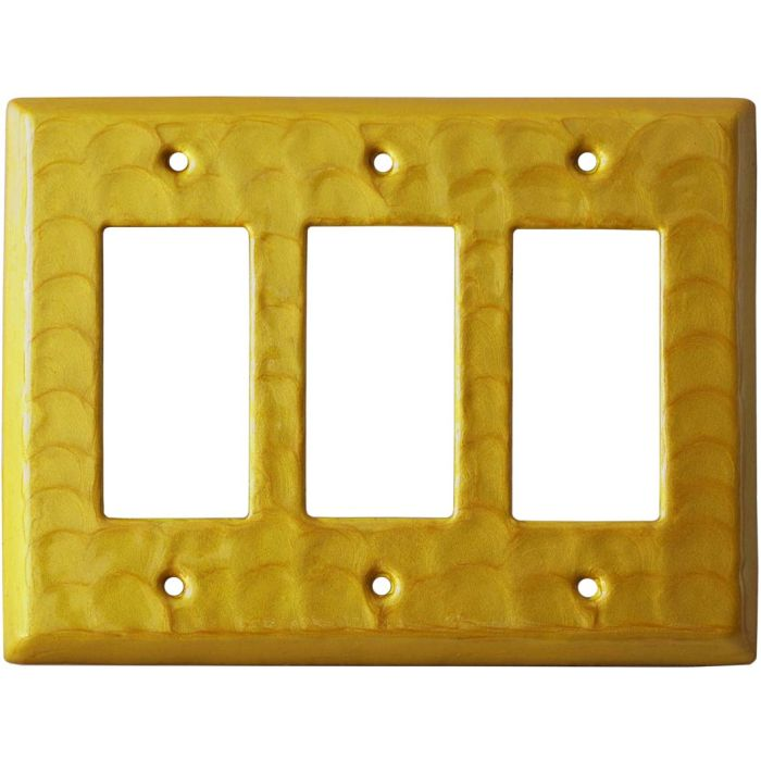 Yellow Motion - 3 Rocker GFCI Decora Switch Covers