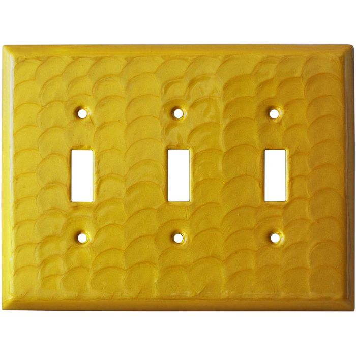 Yellow Motion Triple 3 Toggle Light Switch Covers