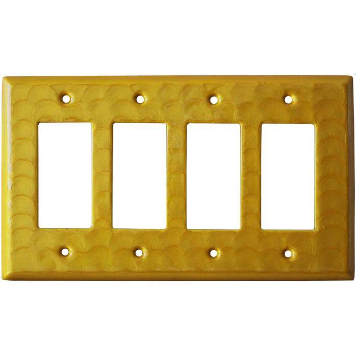 Yellow Motion 4 Rocker GFCI Decorator Switch Plates