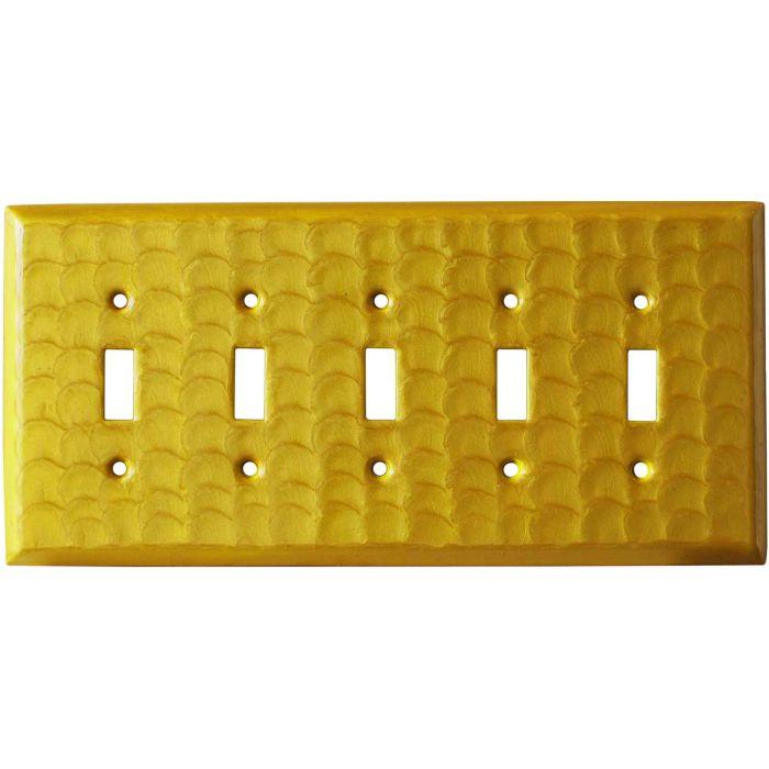 Yellow Motion - 5 Toggle Wall Switch Plates