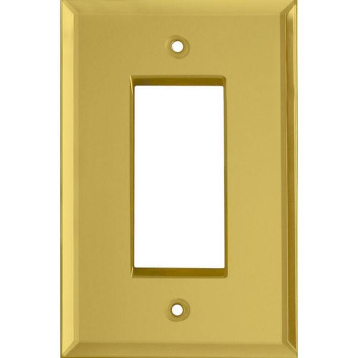 Glass Mirror Yellow Single 1 Gang GFCI Rocker Decora Switch Plate Cover