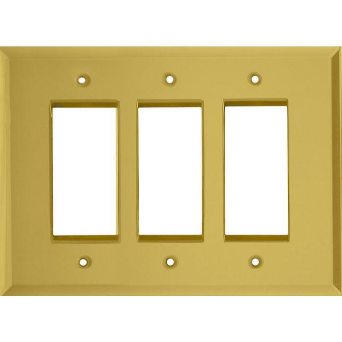 Glass Mirror Yellow Triple 3 Rocker GFCI Decora Light Switch Covers